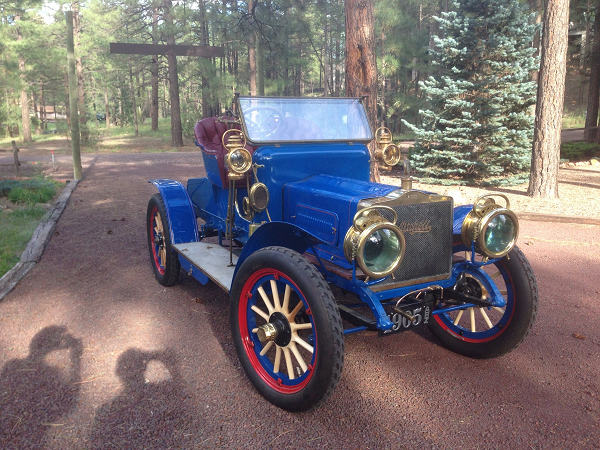 "Alan Travis' beautiful 1905 Mitchell D2 Runabout. ""Steve, we've had the Mitchell (and your plates) up to 70mph. We love them, thanks!"" Go here to see the Mitchell on a speed run and here to see the Mitchell's ""Rest of the Story"" video! -- Alan Travis"