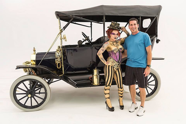 "1912 Ford Model T Touring. ""Hi Steve, Sorry it's taken so long to get pictures to you. I picked up my plate at Chickasha last year and here it is almost that time again. I LOVE my plate, thank you."" -- Frank Canino"