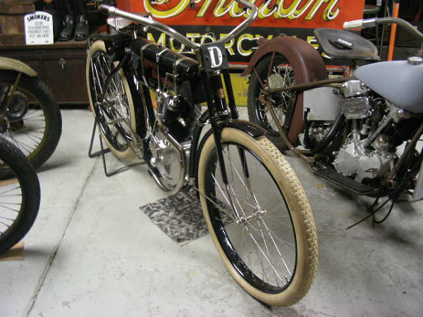 """""""Thanks for the three early motorcycles plates you made. Here's a photo of my late 1905/early 1906 Harley Davidson."""" -- Doug Leikala"""