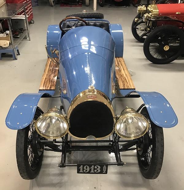 1913 Bugatti Type 22. Front view.
