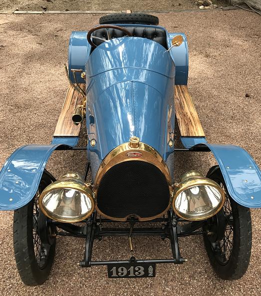 1913 Bugatti Type 22. Early model Bugatti owned by Alan and Mary Travis of Phoenix, AZ.